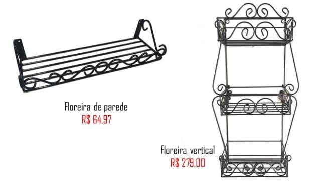 modelos e precos de floreira de ferro