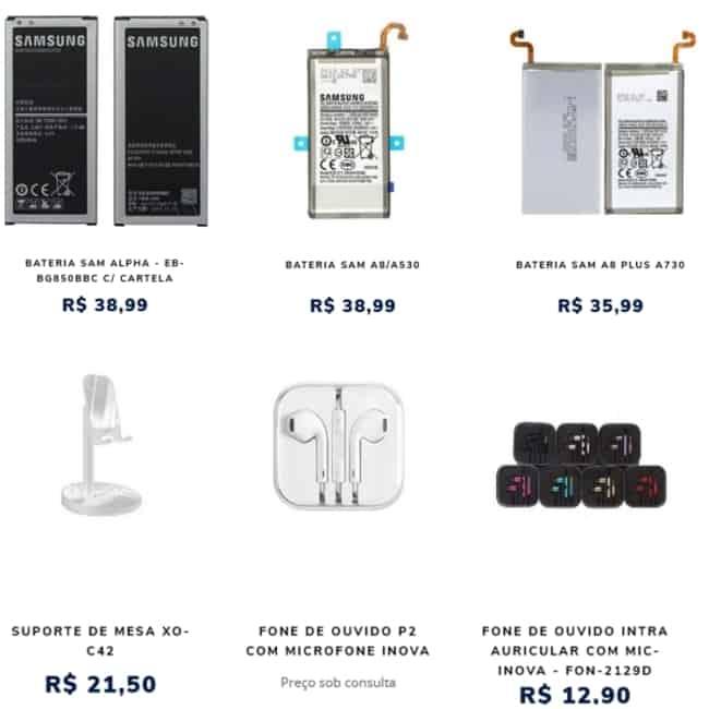 loja online para comprar pecas e acessorios de celular