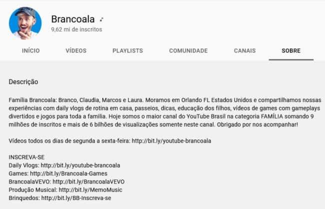 dicas para perfil do youtube