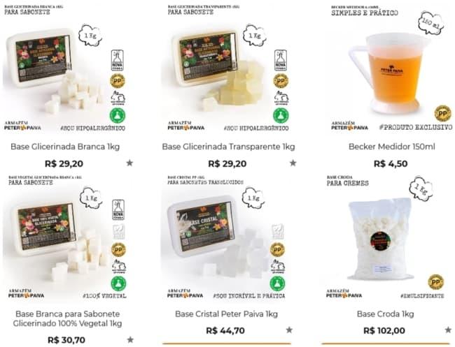 loja virtual para comprar materiais para sabonete artesanal