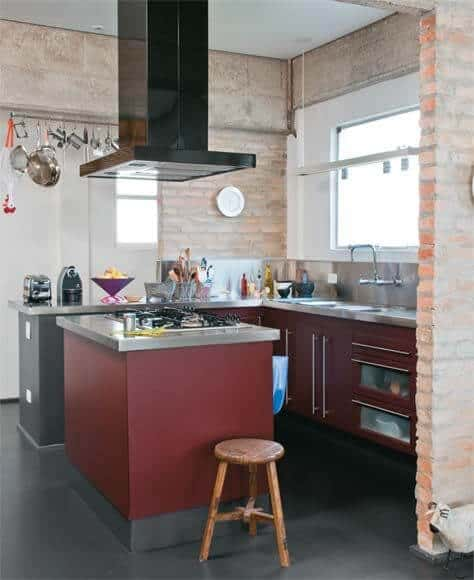 cozinha rustica marsala