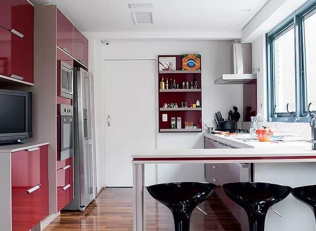 cozinha com decoracao marsala