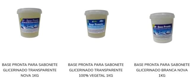 loja com produtos para sabonete artesanal