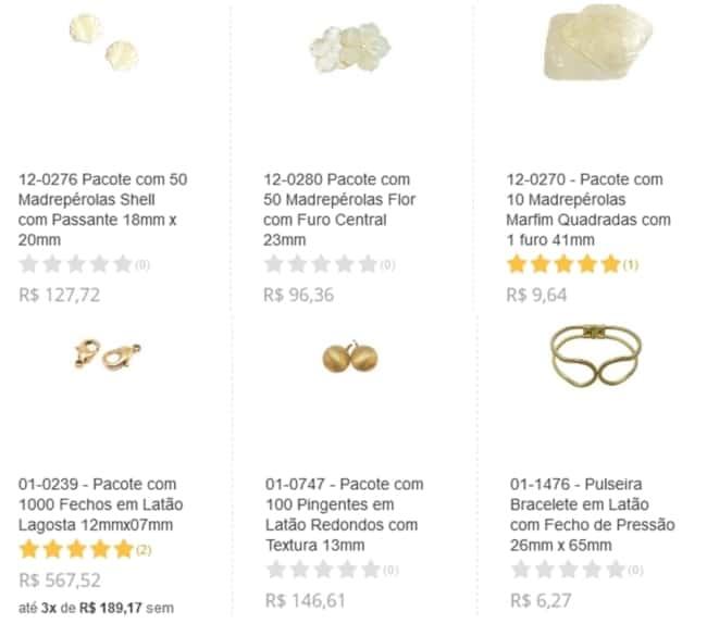 onde comprar pecas para bijuterias