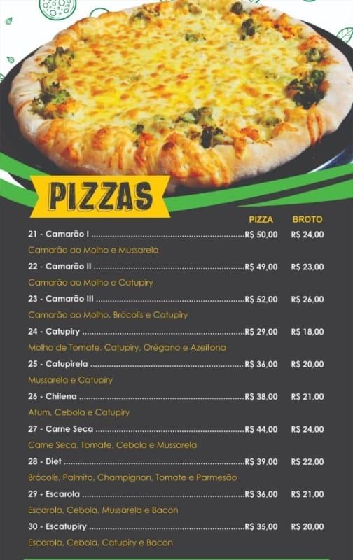 cardapio de pizza com foto