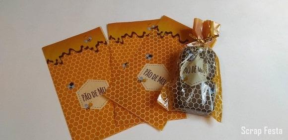 saquinho decorado para pao de mel