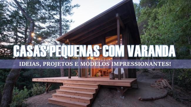 Capa do post Casas Pequenas com Varanda