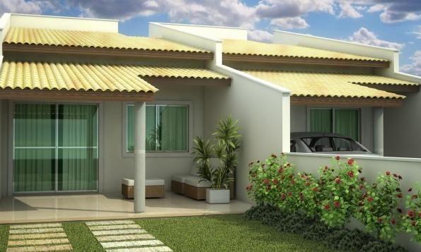 Casas geminadas com varanda