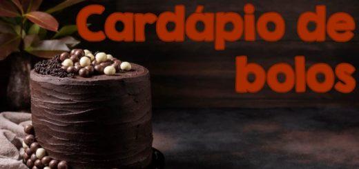 cardapio de bolos