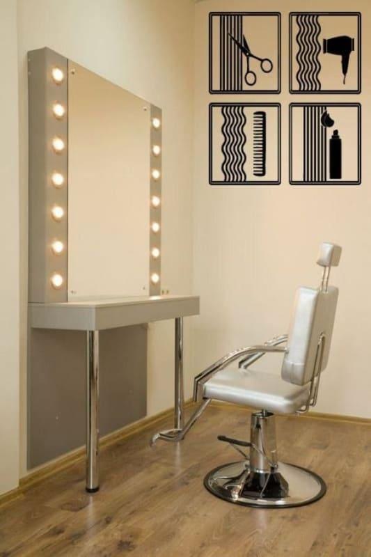 salao de beleza em casa com espelho camarim