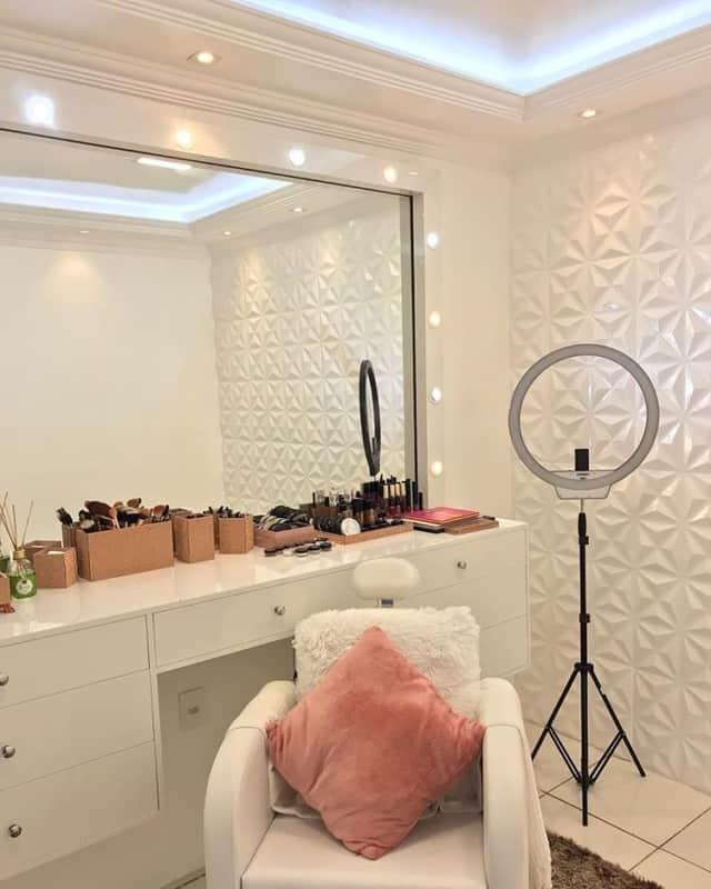 decoracao moderna e clean para salao de beleza em casa
