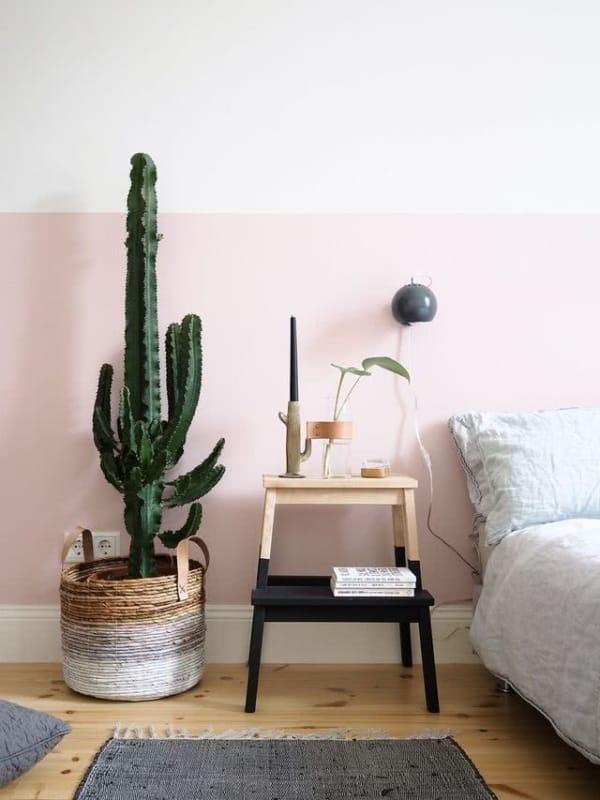 quarto decorado com cacto
